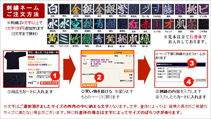 刺繍注文方法